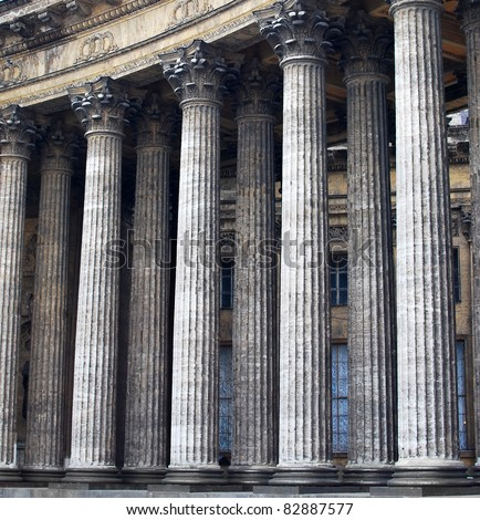 old stone columns  vintage...