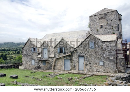 old stone house in the village...