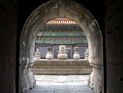Old stone ritual altar in Qing Dynasty Tomb