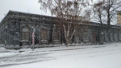 Old Stone russian house in winter at location Kars, Turkey. Kars was occupied by Russians during 40 years between 1877 - 1918