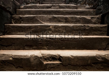old stone staircase. ancient...