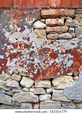 Old stone wall. Abstract background.