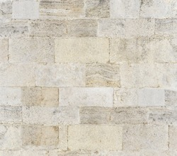 Old stone wall texture background, seamless ashlar old stone wall texture background