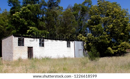 Old store room with broken windows at Waboomskraal George South Africa