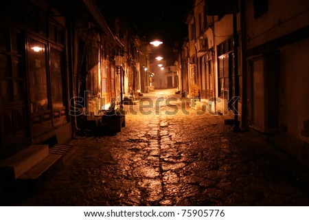Old street at night #75905776
