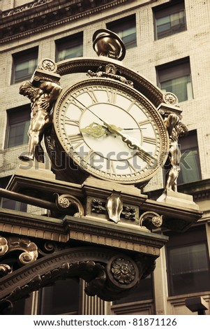 Old street clock in downtown Pittsburgh, Pennsylvania
