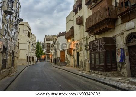 Old Street in UNESCO world heritage historical village Al Balad, Jeddah - Saudi arabia