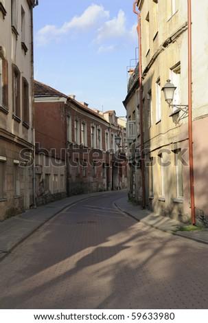 Old Street in Vilnius