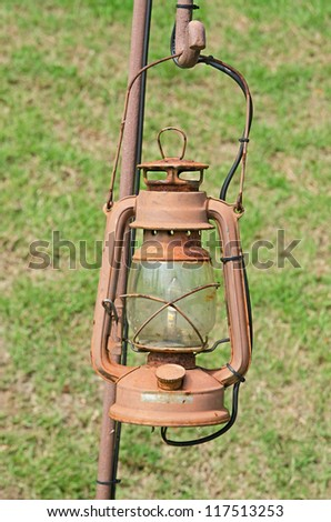 Old street lamp isolated