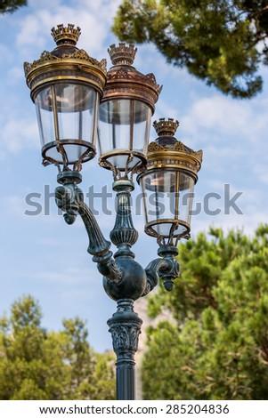 Old street lantern, vintage look #285204836