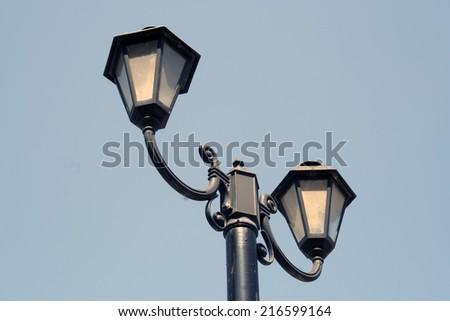 Old street light. Vintage street light.