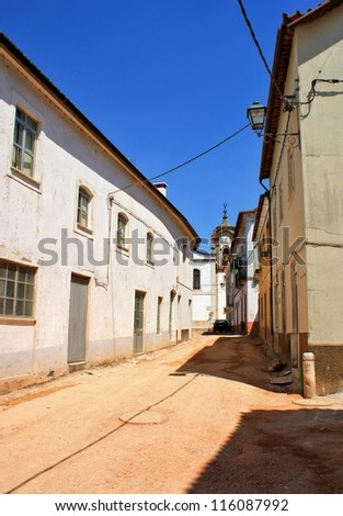 Old street of Espinhal village near Penela, Portugal