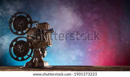 Old style movie projector, still-life,