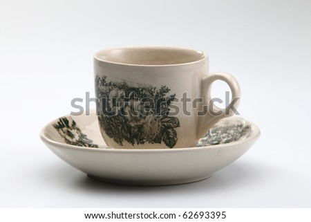 old style of old coffee cup