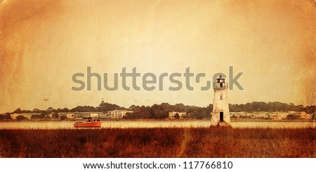 Old style photo of lighthouse