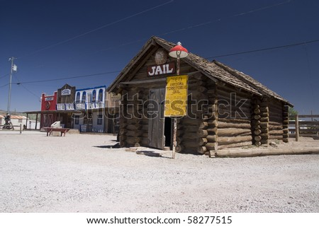 Old style station on the famous route 66 road in USA
