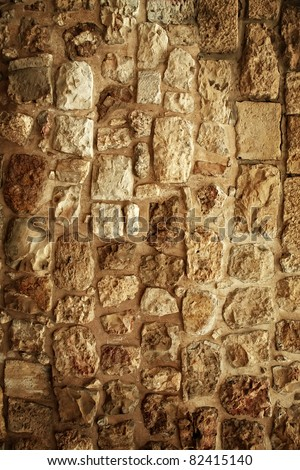 old style vintage cracked stone wall as background