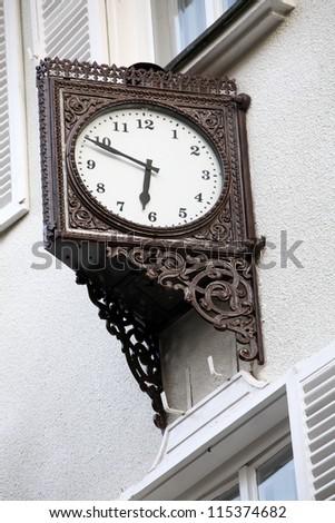 Old stylish external clock