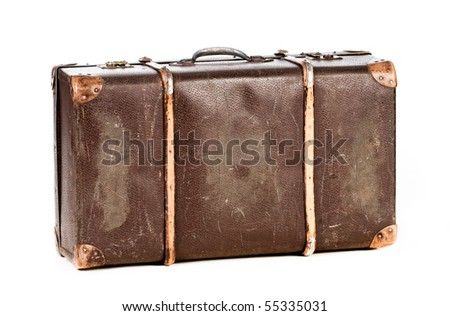 old suitcase isolate