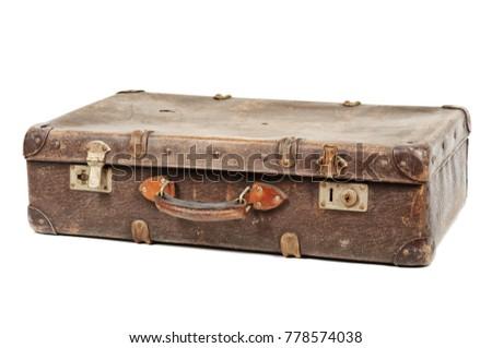 Old suitcase isolated on white background Stock photo ©