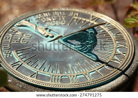 Old sun clock dial - Vintage sundial  #274791275