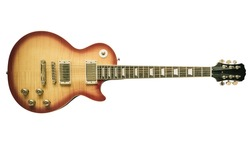 Old sunburst electric guitar isolated on white background