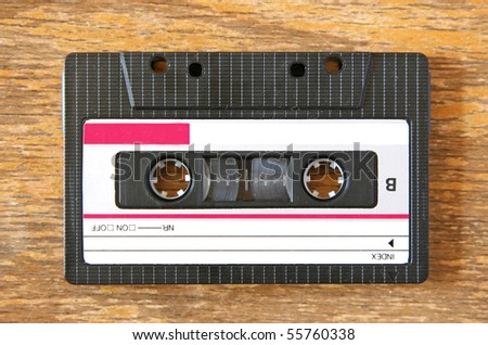 old tape on wooden background
