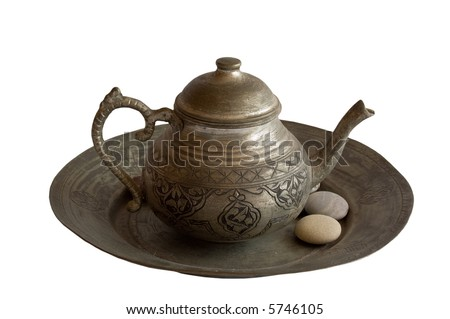 Old Tea Pot with Stones