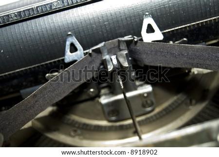 old technology: closeup of vintage typewriter