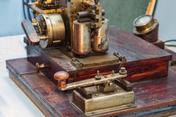 Old Telegraph for communication fragment