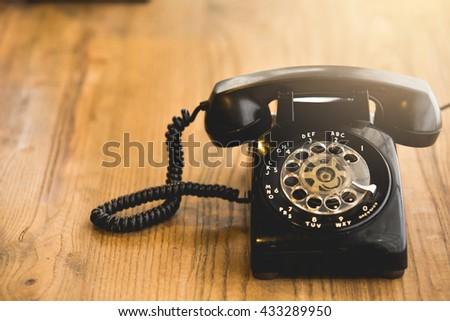 Old telephone,Retro,vintage telephone #433289950