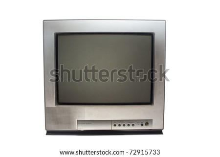 old television - stock photo