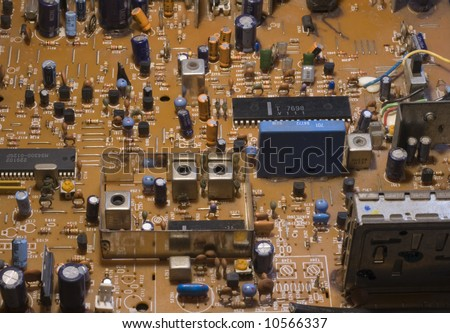 old television circuit board stock photo 10566337. Black Bedroom Furniture Sets. Home Design Ideas