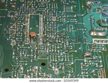 old television circuit board stock photo 10569349. Black Bedroom Furniture Sets. Home Design Ideas