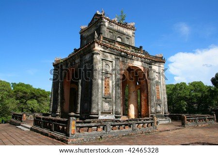 Old temple structure in Vietnam