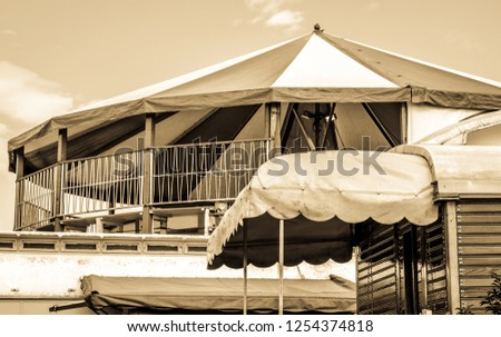 old tent at a festival #1254374818
