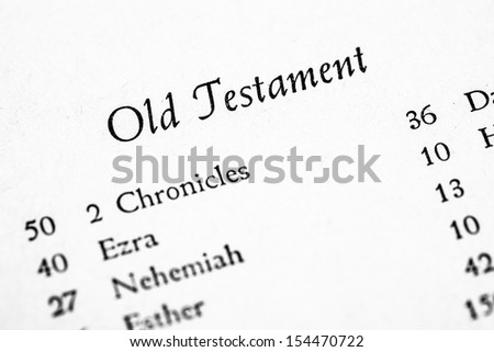 Old Testament table of contents page