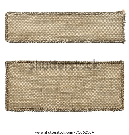 Old textile tag
