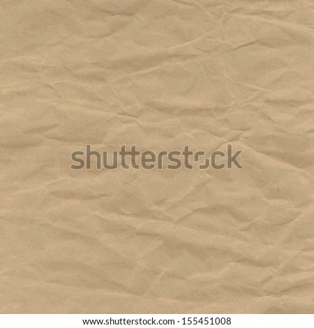 Old Texture of crumpled craft paper, background. Vintage Raster version. The original is also available in my gallery