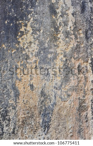 Old textured gray wall