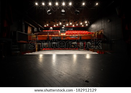 old theater, auditorium, stage