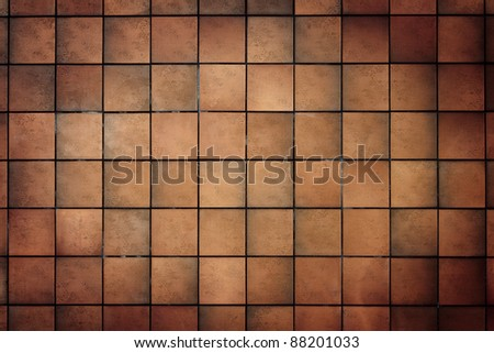 Old tile wall texture background