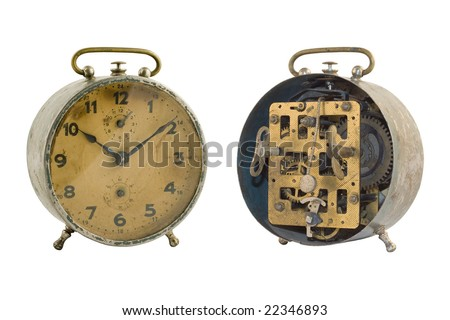 Old-time alarm clock (With Clipping Path)
