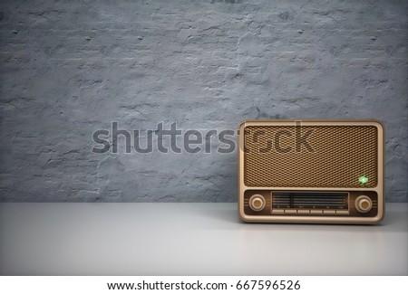 Old time radio. 3d illustration