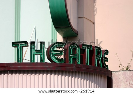 old-time theatre marquee neon sign