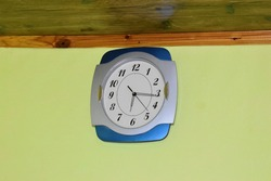 old timepiece wall clock at home