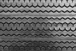 Old tire background , Non-Slip rubber pad made from old tire - Black and White
