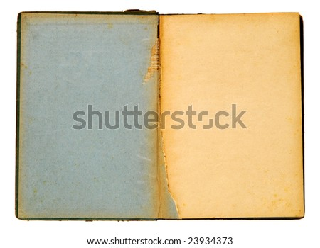 Old torn book
