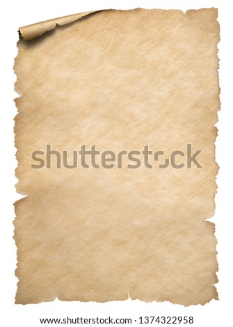 Old torn edges paper isolated on white