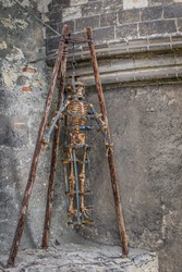 Old torture device in White Tower of Prague Castle